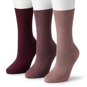 Women's SONOMA Goods For Life? Soft & Comfortable Slouchy Boyfriend Socks (3-Pack)