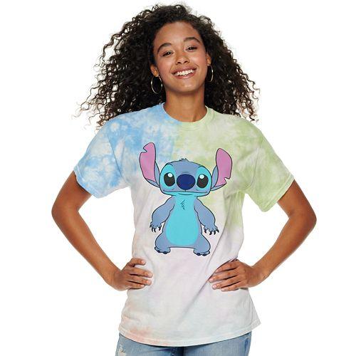 Juniors' Disney's Lilo & Stitch Tie Dye Tee