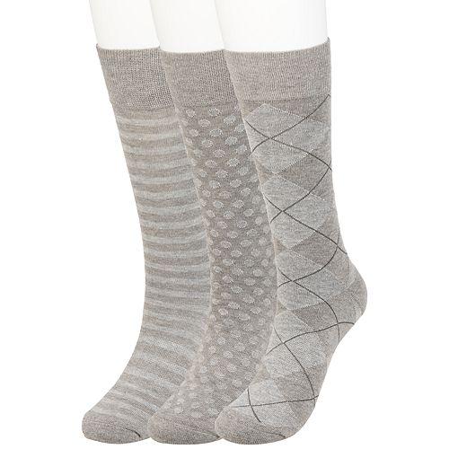 Big & Tall Haggar Comfort Solid Textured Crew Socks (3 pack)