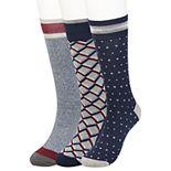 Men's Haggar Comfort Geo Patterned Crew Socks (3 pack)