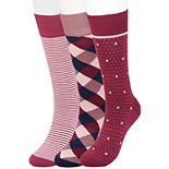 Big & Tall Haggar Comfort Patterned Crew Socks (3 pack)
