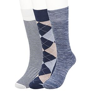 Big & Tall Haggar® Comfort Argyle Crew Socks (3 pack)