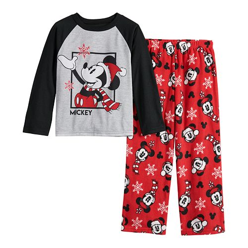 Disney's Mickey Mouse Boys 4-20 Top & Bottoms Pajama Set by Jammies For Your Families