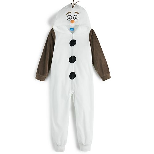 Disney's Frozen Boys 8-20 Olaf One-Piece Pajamas by Jammies For Your Families