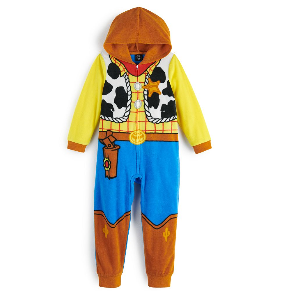 Disney / Pixar's Toy Story 4 Boys 8-20 Woody One-Piece Pajamas by Jammies For Your Families