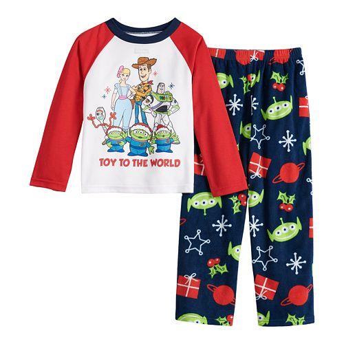 Disney / Pixar's Toy Story 4 Boys 8-20 Top & Bottoms Pajama Set by Jammies For Your Families