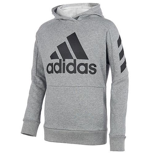 Boys 8-20 adidas Block Fleece Pull-Over Hoodie