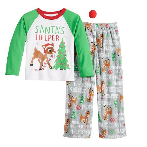Boys 8-20 Jammies For Your Families Rudolph Top & Bottoms Pajama Set