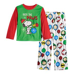 Boys 4-12 Jammies For Your Families Peanuts Snoopy Top & Bottoms Pajama Set