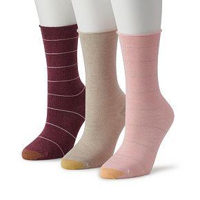 Women's GOLDTOE 2-pk Ultra Soft Stripe Crew Socks