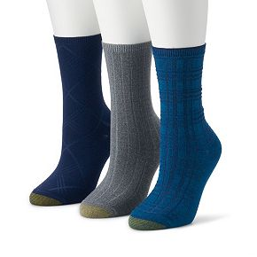 Women's GOLDTOE 3-pk Ultra Soft Plaid Texture Crew Socks