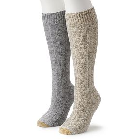 Women's GOLDTOE 2-pk Ultra Soft Recycled Cable Knee-High Socks