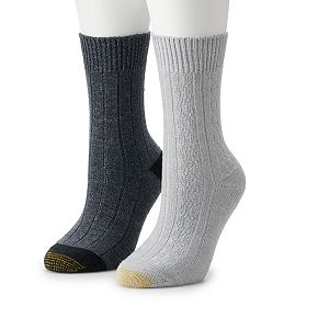 Women's GOLDTOE 3-pk Ultra Soft Recycled Cable Crew Socks