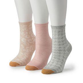 Women's GOLDTOE 3-pk Designer Leopard Crew Socks