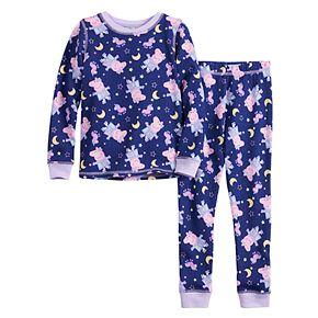 Toddler Girl Peppa Pig Cuddl Duds® Thermal 2-Piece Set