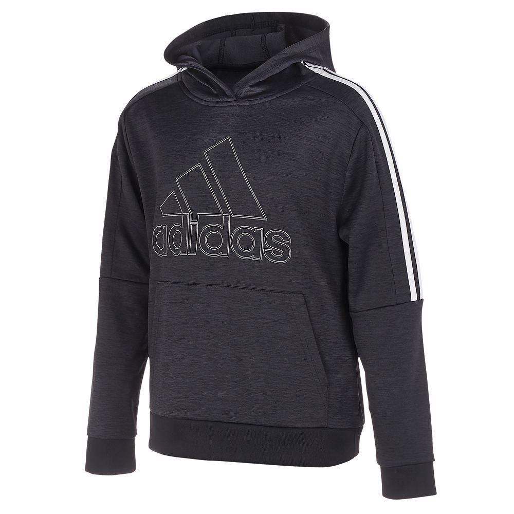 Boys 8-20 adidas 3-Striped Fleece Pull-Over Hoodie