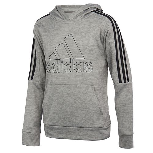 Boys 8-20 adidas 3-Striped Fleece Pull-Over Hoodie