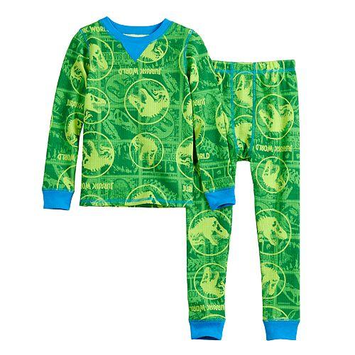 Toddler Boy Jurassic Park Cuddl Duds® Thermal 2-Piece Set
