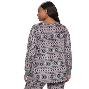 Plus Size Croft & Barrow Fairisle Luxe Pajama Top