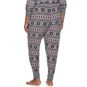 Plus Size Croft & Barrow® Luxe Banded-Bottom Pajama Pants