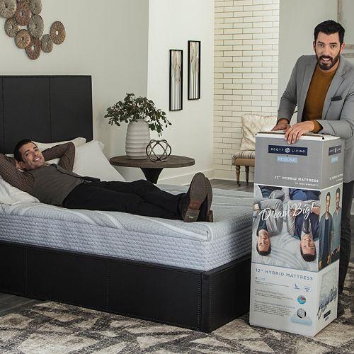 "Scott Living by Restonic 12"" Hybrid Mattress In A Box"