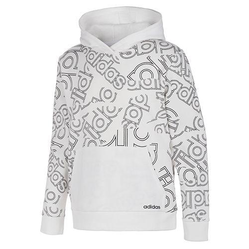 Boys 8-20 adidas Printed Fleece Pull-Over Hoodie