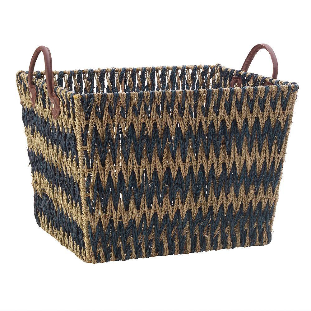 Scott Living Chevron Seagrass Basket