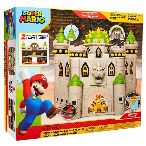 Super Mario Bros Deluxe Bowser Castle Playset
