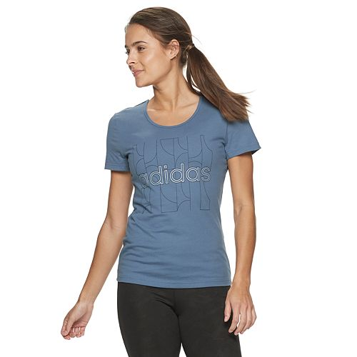Women's adidas Back Elastic Strap Graphic Tee