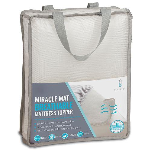 La Baby Breathable Miracle Mat Superior Ventilation Crib Mattress Topper