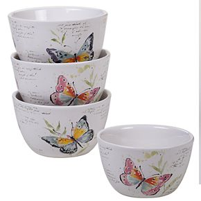 Certified International Spring Meadows 4-pc. Cereal Bowl Set