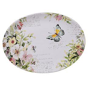 Certified International Spring Meadows Oval Serving Platter