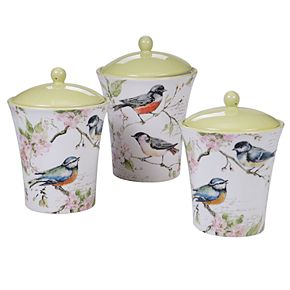 Certified International Spring Meadows 3-pc. Canister Set
