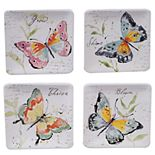 Certified International Spring Meadows 4-pc. Canape Plate Set