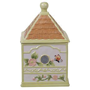 Certified International Spring Meadows Bird House Cookie Jar