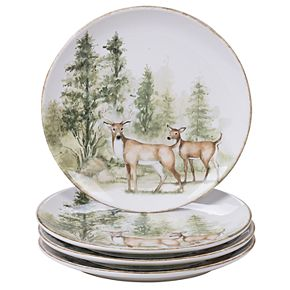 Certified International Mountain Retreat 4-pc. Dinner Plate Set
