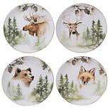 Certified International Mountain Retreat 4-pc. Salad Plate Set
