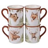 Certified International Mountain Retreat 4-pc. Mug Set