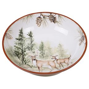 Certified International Mountain Retreat Pasta Serving Bowl