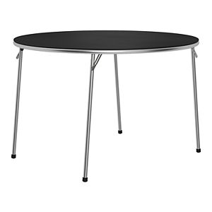 Cosco Stylaire Round Vinyl Top Folding Table