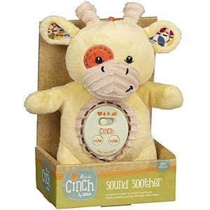 Dexbaby Cinch by Dexbaby Plush Mini Giraffe - Sleep Aid Womb Sound Soother w/Playard and Crib Attachment