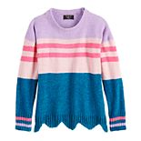 Girls 7-16 It's Our Time Long Sleeve Crew Neck Pullover Sweater