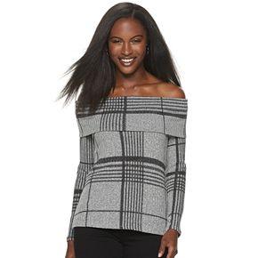 Women's Apt. 9® Off The Shoulder Long Sleeve Top