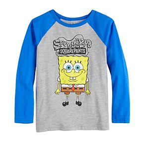 Boys 4-12 Jumping Beans® Long-Sleeve Spongebob Tee