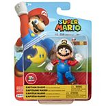 "Nintendo 4"" Figures Captain Mario with Yellow Power Moon"