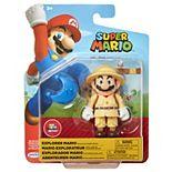 "Nintendo 4"" Figures Explorer Mario with Blue Power Moon"