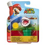 "Nintendo 4"" Figures Piranha Plant With Coin"