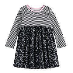 Hello Gorgeous Little//Big Girls Heather Gray /& Pink Dress 4 5//6 6X 7 8//10 12