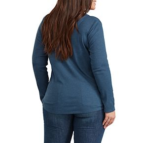 Plus Size Dickies Ribbed Henley Shirt