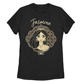 Juniors' Disney's Aladdin Jasmine Geometric Portrait Tee Shirt